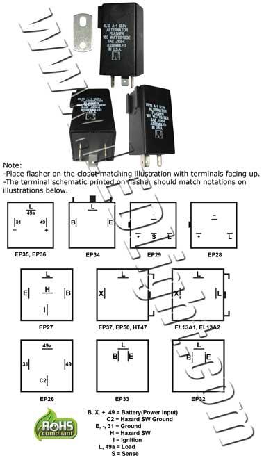 electronic led flasher el13a-1